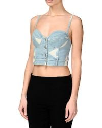 Moschino | Blue Top | Lyst