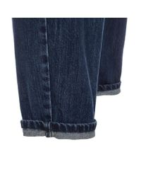 Paul Smith - Blue Women's Pleat-front Washed Denim Jeans - Lyst