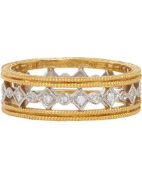 Cathy Waterman - Metallic Diamond, Platinum & Gold Band - Lyst