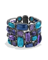 David Yurman - Chatelaine Bracelet with Amethyst Hampton Blue Topaz and Amethyst - Lyst