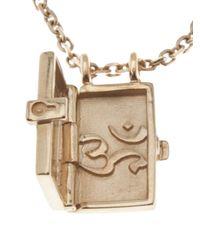 Luis Morais - Metallic Locket Necklace - Lyst