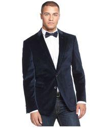 Sean John | Blue Velvet Pindot Blazer for Men | Lyst