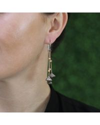 Todd Reed | Metallic Diamond Octahedron Drop Earrings | Lyst