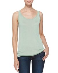 Belford | Green Scoop-neck Bambo Cashmere Tank | Lyst