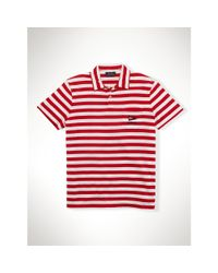 Polo Ralph Lauren | Red Striped Cotton Jersey Polo for Men | Lyst
