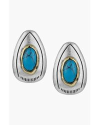 Sam Edelman | Blue Large Stone Stud Earrings - Turquoise | Lyst