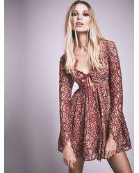 Free People - Red Charlie Mini Dress - Lyst