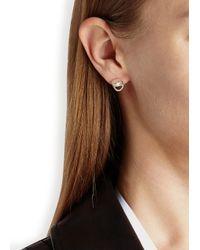 Daisy Knights | Metallic Little Shark Silver Stud Earrings | Lyst