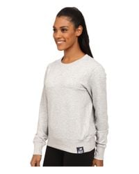 New Balance | Gray French Terry Crew Neck Sweatshirt | Lyst
