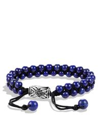 David Yurman | Metallic Spiritual Beads Tworow Bracelet with Lapis Lazuli for Men | Lyst