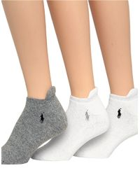 Ralph Lauren | Gray 3-Pack Full Cushion Sport Ped Socks | Lyst