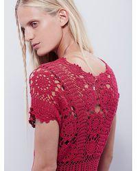 Free People | Red Fairytale Crochet Dress | Lyst