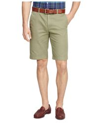 "Brooks Brothers - Green Garment-dyed 11"" Bermuda Shorts for Men - Lyst"