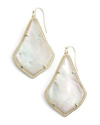 Kendra Scott | Natural 'alexandra' Large Drop Earrings | Lyst