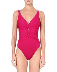 7b31e6846b Gottex Le Ribot Fuschia Swimsuit in Pink - Lyst