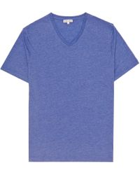 Reiss | Blue Dayton Marl V-neck T-shirt for Men | Lyst