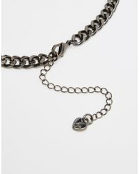 Lipsy - Metallic Dark Space Collar Necklace - Lyst