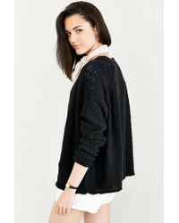 Silence + Noise | Black Mona Zip-up Cardigan | Lyst