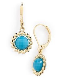 Anne Klein - Blue Drop Earrings - Lyst