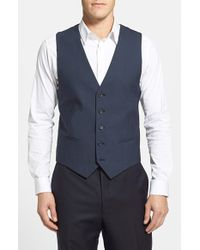 Calibrate - Blue Wool & Mohair Vest for Men - Lyst