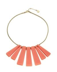 Trina Turk | Pink Small Bar Shower Necklace | Lyst