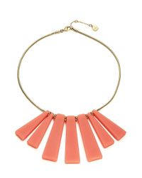 Trina Turk - Pink Small Bar Shower Necklace - Lyst
