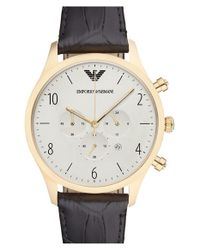 Emporio Armani - Black Chronograph Watch for Men - Lyst