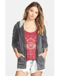 Volcom - Gray 'lived In' Lined Zip Hoodie - Lyst