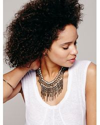 Free People | Natural Womens Bonfire Fringe Collar | Lyst