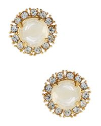 kate spade new york | White Secret Garden Stud Earrings | Lyst