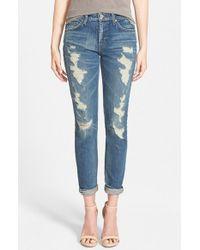 Joe's Jeans - Blue 'Premium Vintage - Billie' Ankle Slim Boyfriend Jeans - Lyst