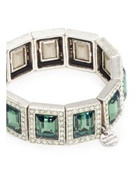 Philippe Audibert - Green Elea Square Stone Bracelet - Lyst