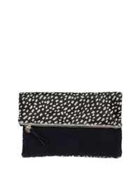 Clare V. - Black Ladybug Calf-hair Fold-over Clutch Bag - Lyst