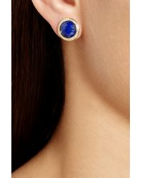 Ippolita - Blue Lollipop 18karat Gold Lapis Lazuli and Diamond Earrings - Lyst