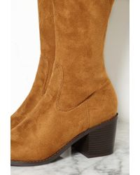 Forever 21 | Brown Thigh-high Faux Suede Boots You've Been Added To The Waitlist | Lyst