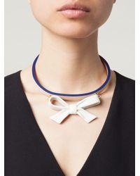 Andres Gallardo - 'True Blue - Bow White' Necklace - Lyst