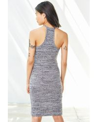 Silence + Noise | Gray High-neck Space-dye Tulip Dress | Lyst