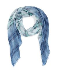 Hinge - Blue 'Rebel' Plaid Wrap - Lyst