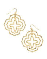 Panacea | Metallic Golden Textured Orbit Earrings | Lyst
