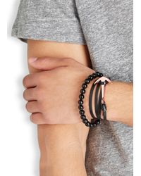 Miansai | Black Leather Wrap Bracelet for Men | Lyst