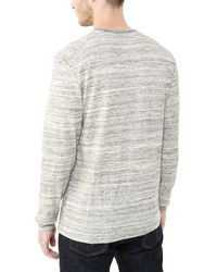 Alternative Apparel | Gray Frontier Eco-space Dye Thermal Henley Shirt | Lyst