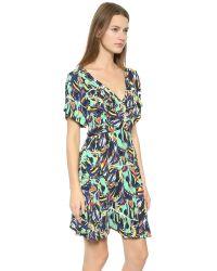 KENZO | Torn Flowers Cross Front Dress - Black | Lyst