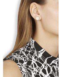 Marc By Marc Jacobs | Natural Cream Enamel Disc Stud Earrings | Lyst