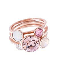 Ted Baker Pink 'jackie' Crystal Stacking Rings