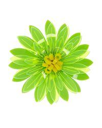 Issa - Green Dahlia Neon Acrylic Flower Brooch - Lyst