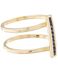 Anna Sheffield - Metallic Gold Pave Sapphire Licol Ring - Lyst