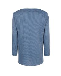 Paul Smith - Men's Blue Rope-stripe Cotton Overshirt for Men - Lyst