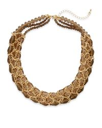 Saks Fifth Avenue - Metallic Woven Chain Collar Necklace - Lyst
