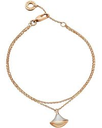 BVLGARI | Diva 18ct Pink-gold And Mother-of-pearl Bracelet | Lyst