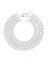 BaubleBar | White Triple Chain Collar | Lyst
